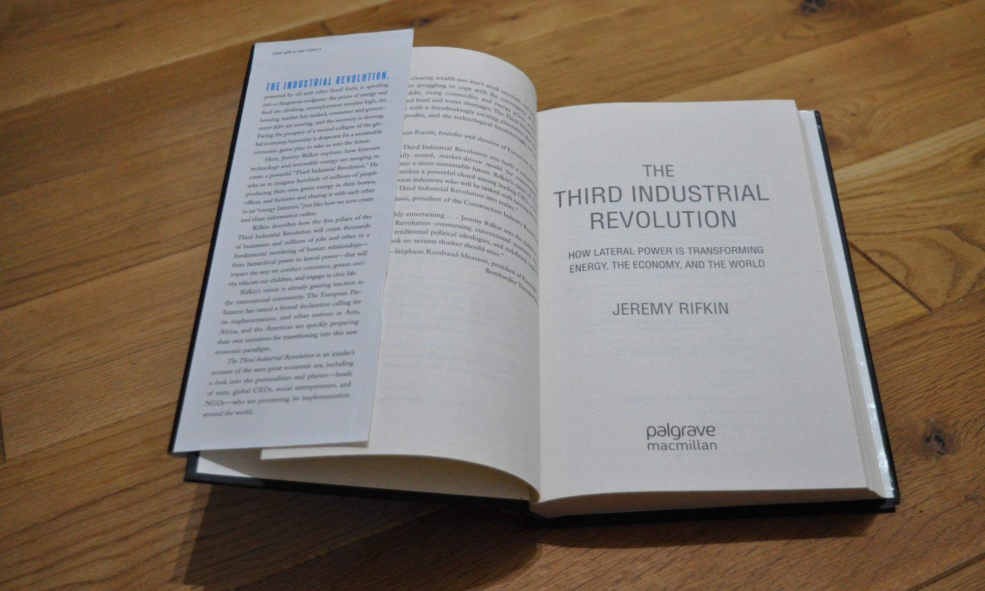 Buch: Die dritte industrielle Revolution